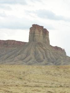 Eroded mesa in northern Arizona.