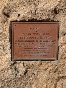 The plaque at the foot of the Copper Miners Statue at the top of this page.