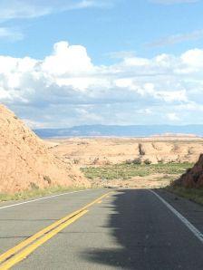 Roads down into canyon N. AZ