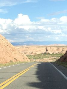 Roads down into canyon N. AZ