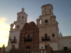 San Xavier Mission is a National Historic Landmark in Tucson.