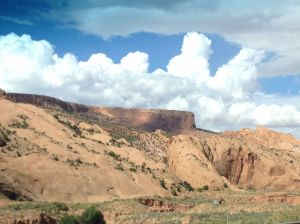 To the right in this picture of Tsegi Canyon you can see the wind weathering scooping out the soft rock.