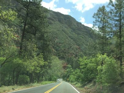 Highway 89A through Oak Creek Canyon