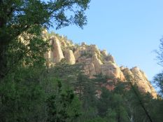 Cliffs above Cave Springs Campground