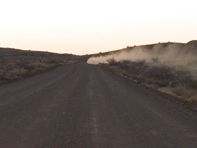 Well, sometimes a dirt road is dusty.