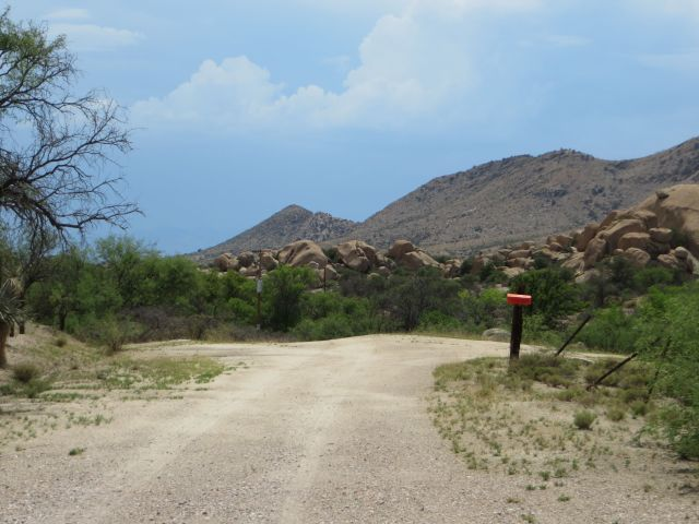 Entrance to the historic Adams Ranch in Texas Canyon