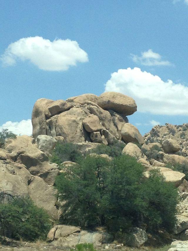 Balanced rocks in Texas Canyon, Arizona