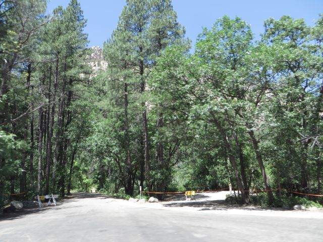 The entrance to Cave Springs Campground