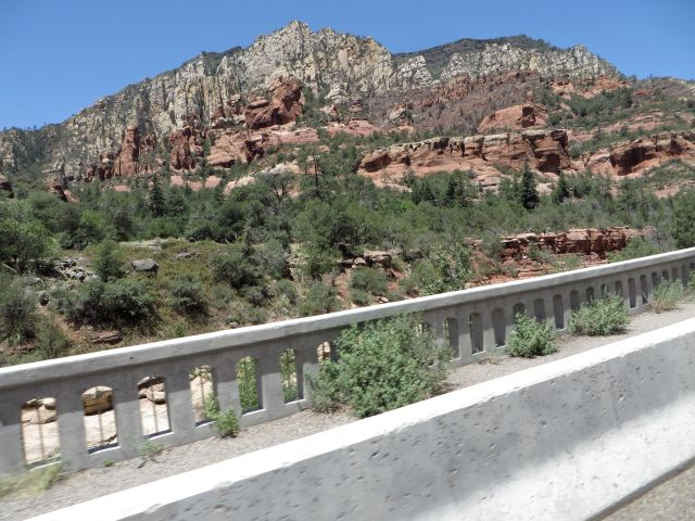 View from bridge at Slide Rock