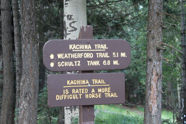 Kachina Trail sign 1